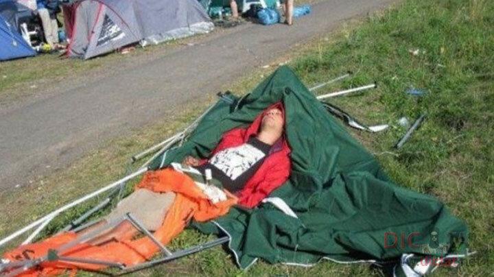 Когда лень победила и ты решил не ставить палатку