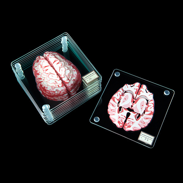 The brilliant minds at ThinkGeek just launched this set of 10 glass coasters printed with sequential