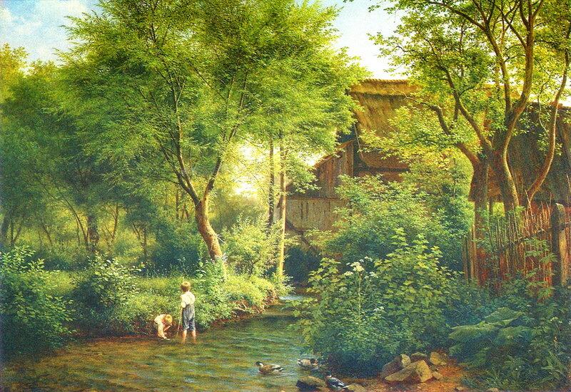 Бедржих Гавранек: «На ручье» (1871 г.)