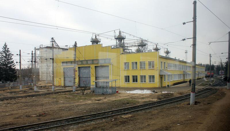 Здание в локомотивном депо Орехово