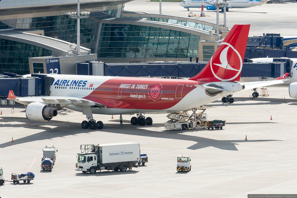 Борт Turkish Airlines в специальной ливрее Invest in Turkey