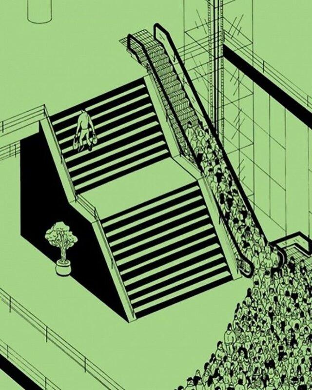Недостатки современного общества на жестких иллюстрациях бельгийского художника