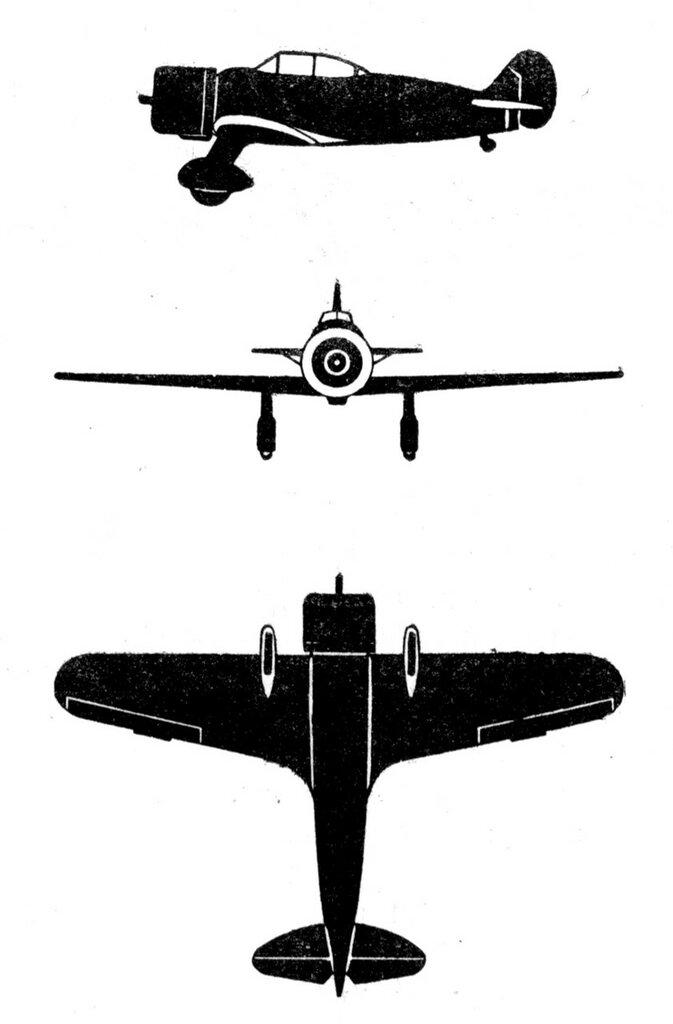 Силуэты итальянских самолетов (1939) 011