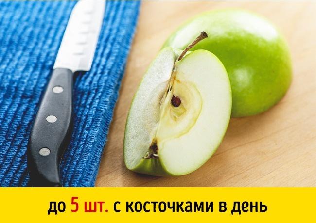 © hookmedia / depositphotos  Вкосточках яблока, вишни, персика, сливы, абрикоса ичерешни ест