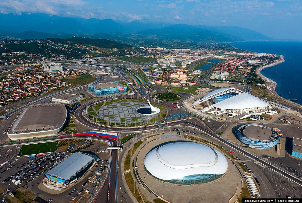 34. На территории Олимпийского парка находятся спортивные сооружения, на которых проводились со