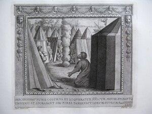 Облачный столб указывает путь евреям (Исход, XIII, 21-22)