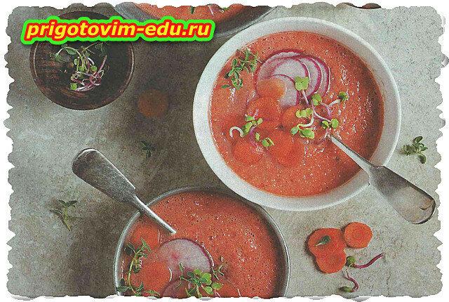 Морковный крем-суп на овощном отваре