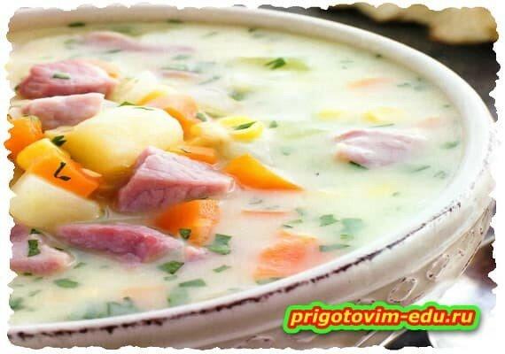 Американский суп со свининой