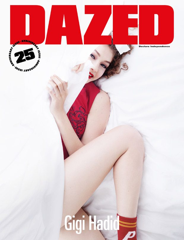 Gigi Hadid Covers Dazed Magazine 25th Anniversary Issue