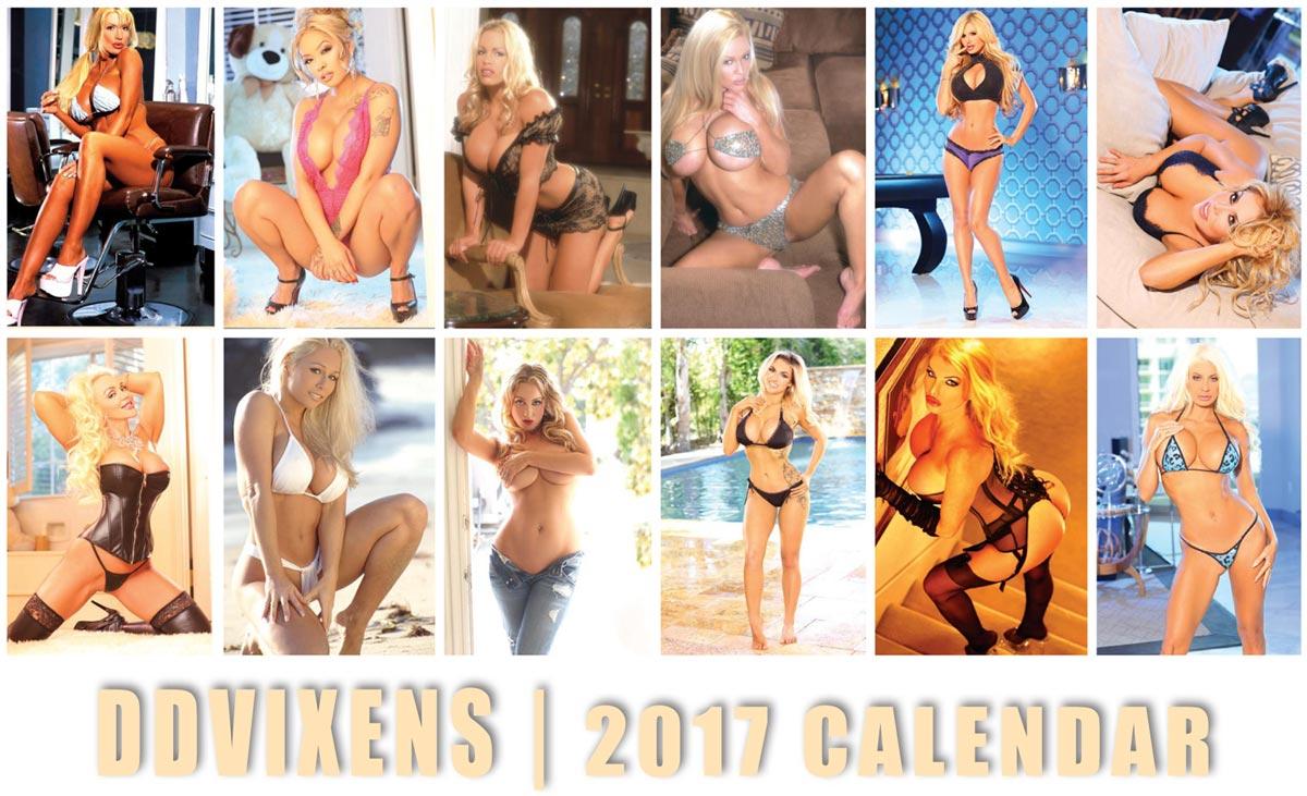 Ddvixens Magazine - 2017 Blonde Bombshell Calendar