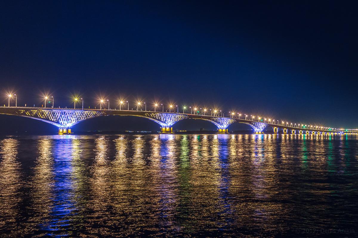 возвращение исторической подсветки на мост Саратов-Энгельс фото 2