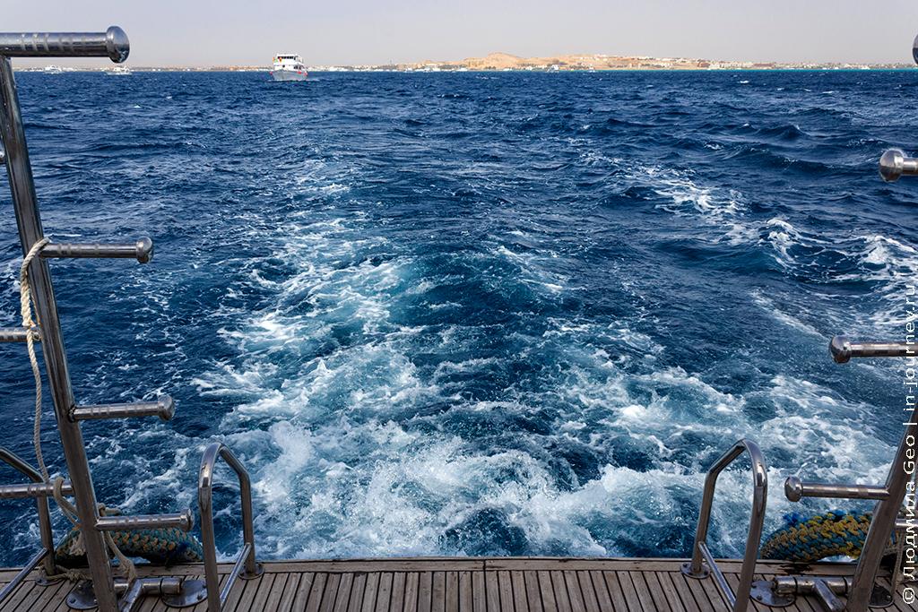 Красное море вид с яхты
