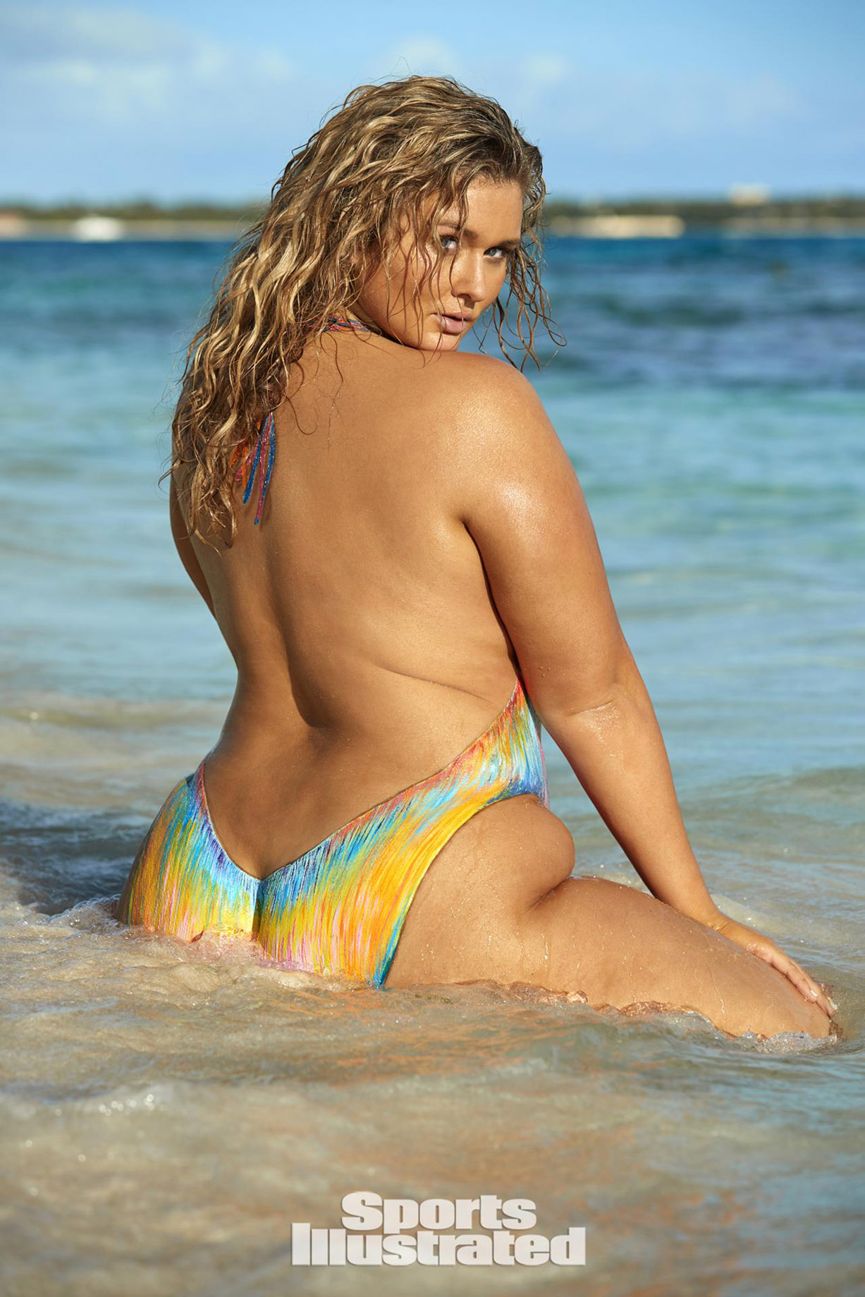 Hunter McGrady / Хантер МакГрэди в боди-арт-купальнике - Sports Illustrated Swimsuit 2017 issue / in Anguilla by Josephine Clough
