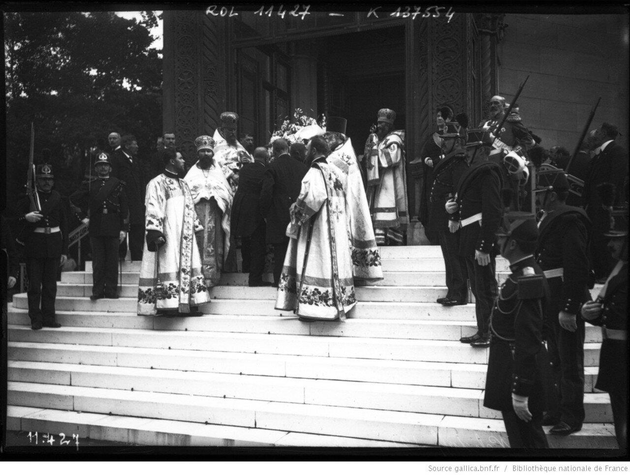 1910. 20 сентябрь 1910. Похороны Александра Ивановича Нелидова, посла России во Франции