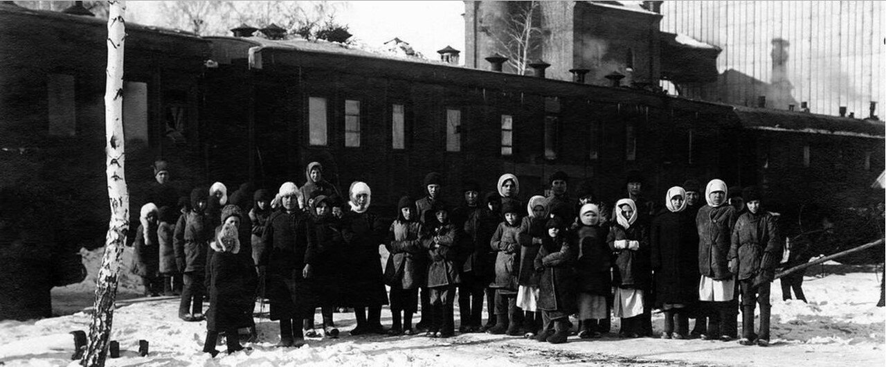 Эвакуация детей из голодающей Челябинской губернии в Башкирию