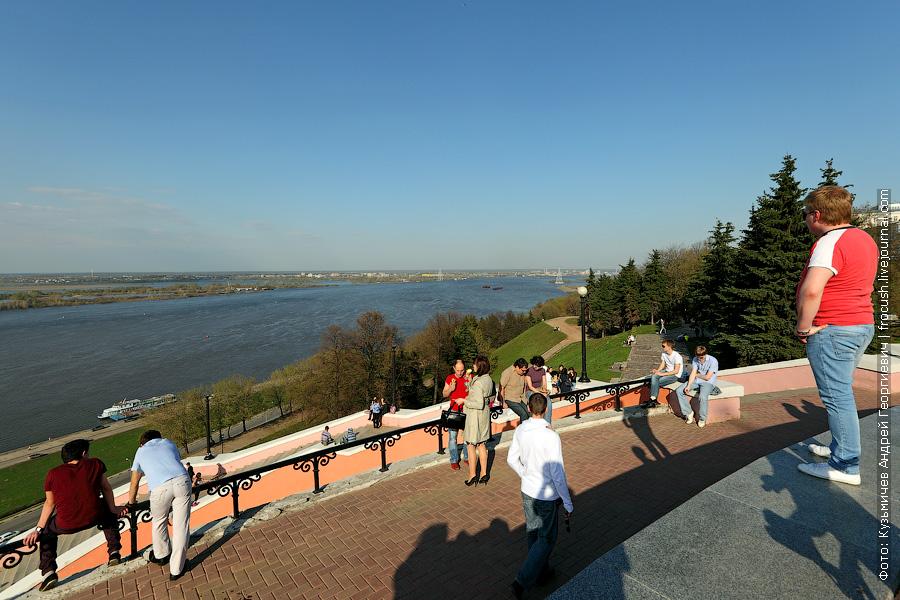 Вид на Волгу от памятника Чкалову