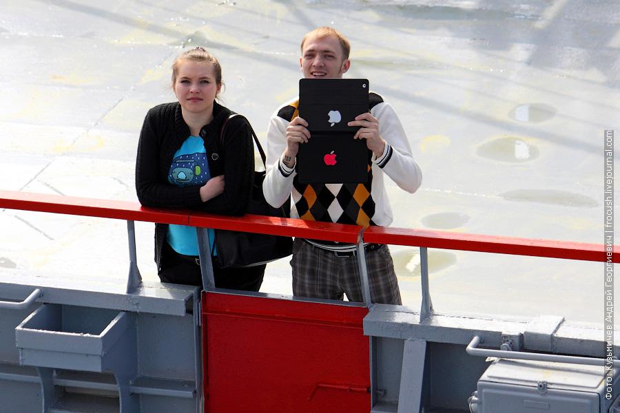 на причале Нижнего Новгорода