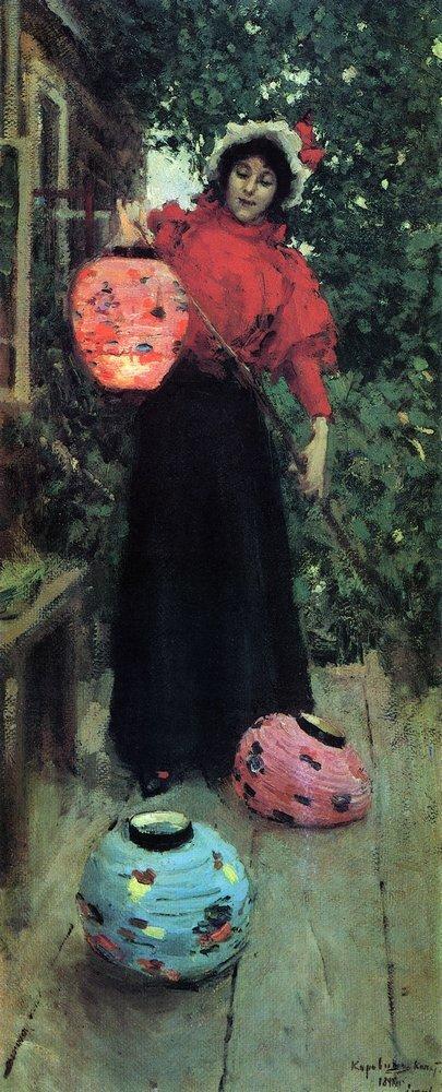 Бумажные фонари, 1898, Константин Алексеевич Коровин (1861-1939)