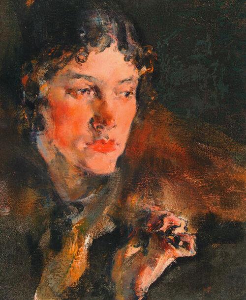 Николай Фешин. Портрет жены.jpg