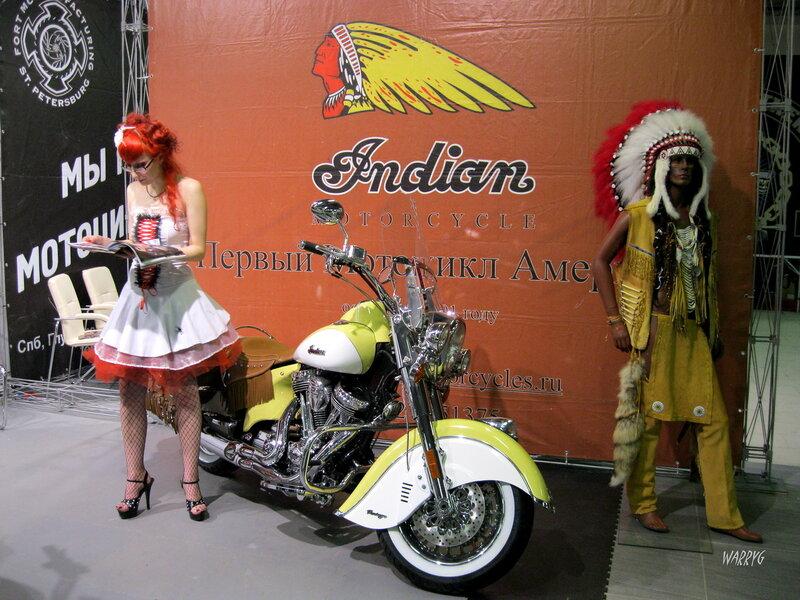 Стенд мотоциклов Indian.