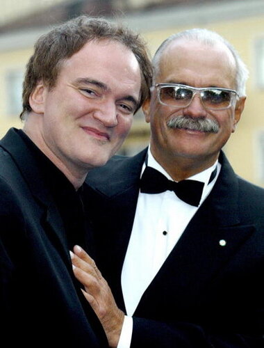 US director Quentin Tarantino (L) and Ru