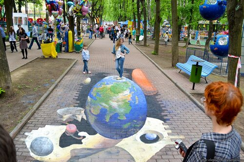 3d граффити в бабушкинском парке