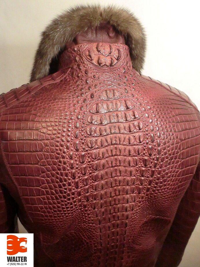 22. Я единственный дизайнер в России по одежде из кожи КРОКОДИЛА. самый модный тренд сезона-это куртки из кожи...