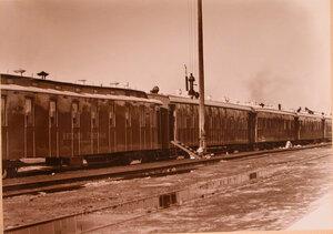 Общий вид военно-санитарного поезда.