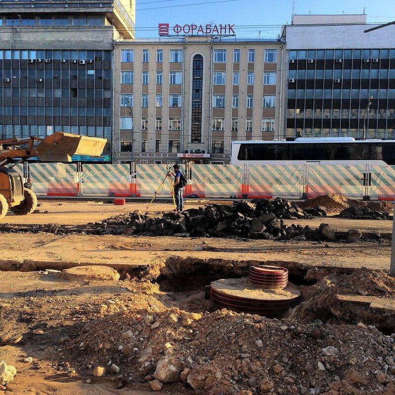 Ремонт Зубовского бульвара в мак 2017