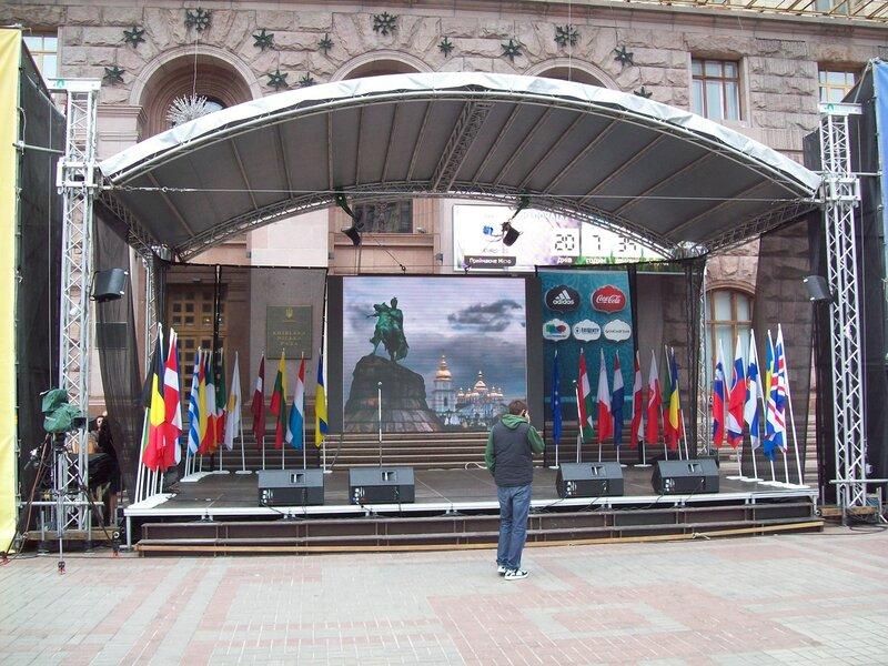 Сцена Дня Европы 2012 в Киеве
