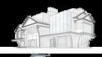 жилой дом, общий вид с приватной территории участка.