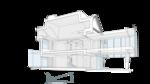Балкон терраса второго этажа, разрез поперечный. Оранжерея втрого этажа