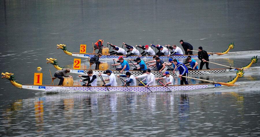 лодка дракон для соревнований