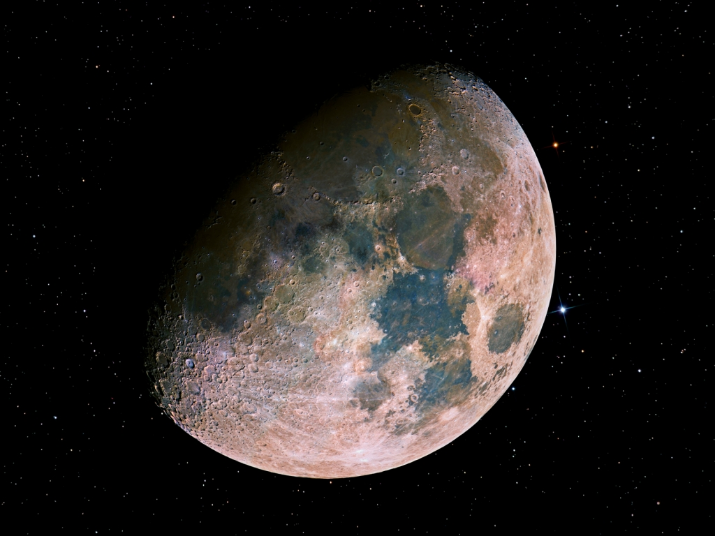 Миранда – маленькая луна с высокими горами у глубокими пропастями