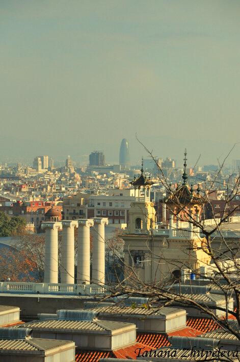 с видом на небоскреб Агбар