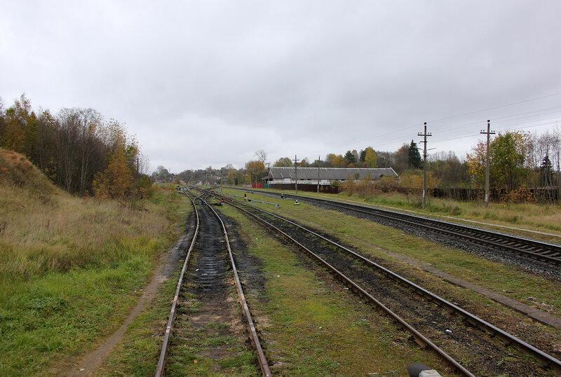 Станция себеж, западная горловина, вид на Москву
