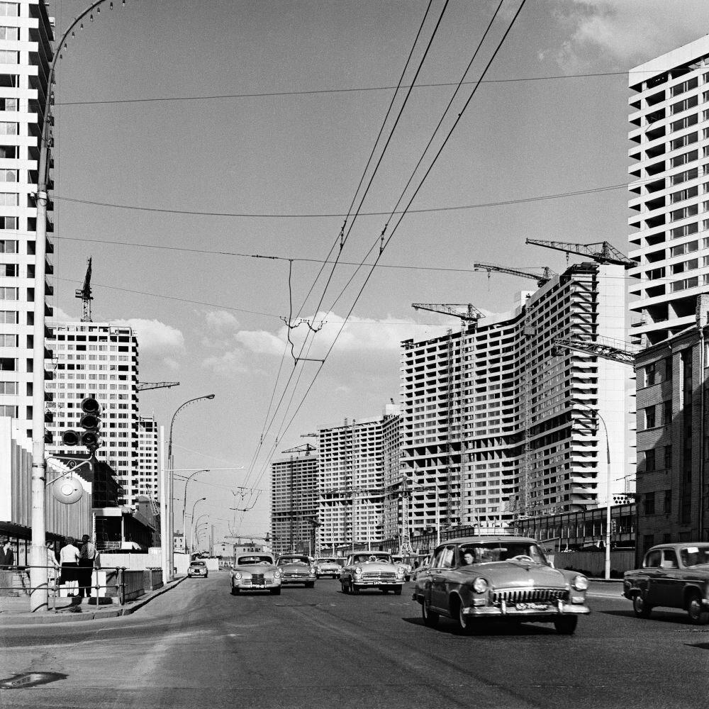 1964. Строительство Проспекта Калинина