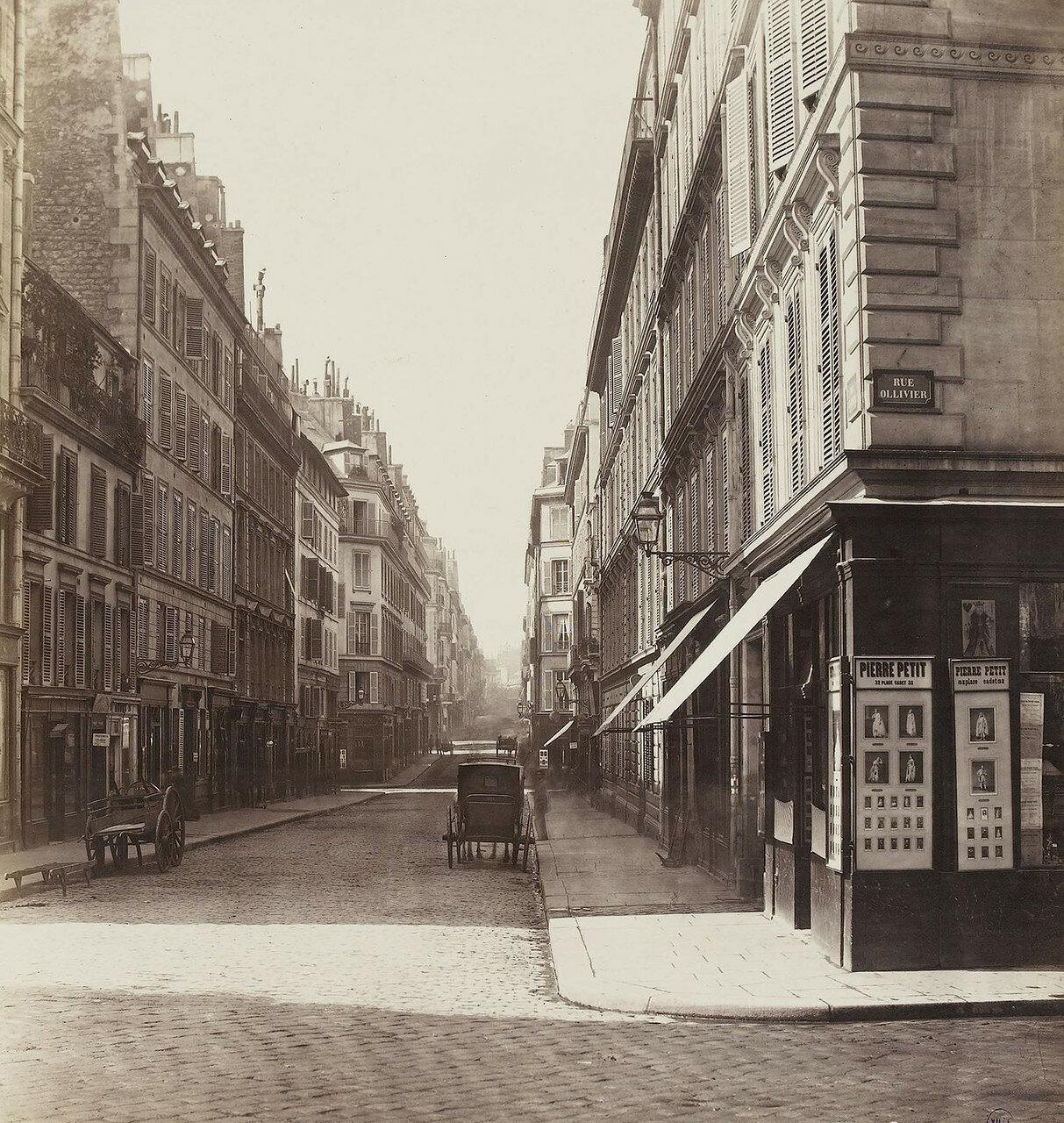 1865-1868. Рю Лафитт. Вид от церкви Нотр -Дам-де-Лорет