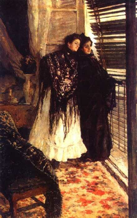 Коровин Константин Алексеевич. У балкона. Испанки Леонора и Ампара. 1888-89.
