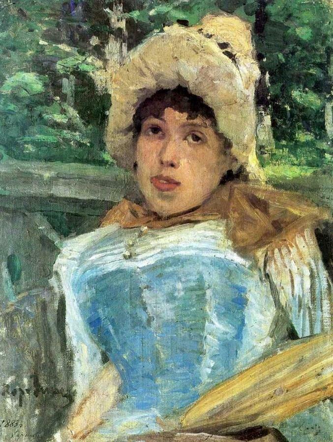 Портрет хористки. 1887_Коровин Константин Алексеевич. (1861-1939)