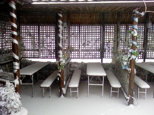 Пивная Хата в снегу