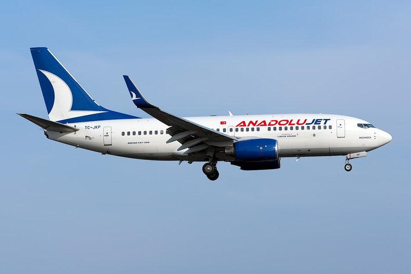 Boeing 737-7GL (TC-JKP) AnadoluJet DSC_9772