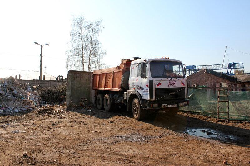 Вывоз мусора с объекта