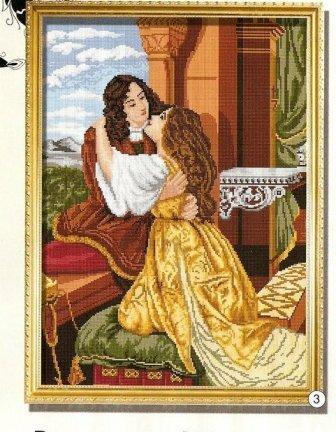 """Близнецы - Схема вышивки  """"ромео и джульетта """" - Схемы вышивки - EVASAF - Авторы - Портал  """"Вышивка крестом """" ."""