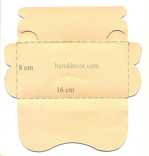 Вырезанный конверт сложить как