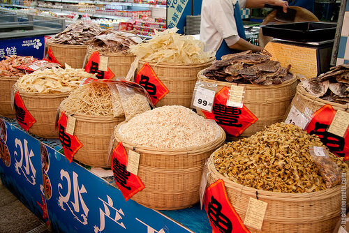 сушеные морепродукты, еда в Китае