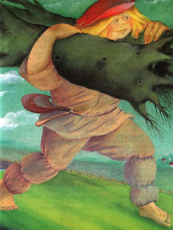 рассказ обыкновенный великан рисунок