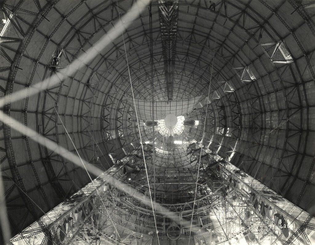 Interior Hull of a Dirigible before Gas Cells were Installed