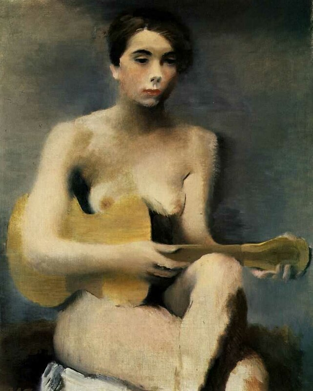 Женщина с гитарой, 1930 г. | Woman with a guitar, 1930