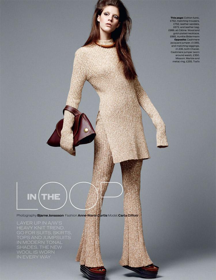Карла Киффони (Carla Ciffoni) в журнале Elle UK (10 фото)